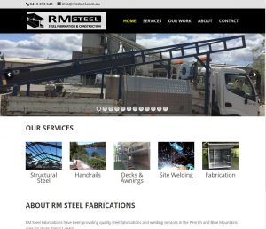 RM Steel - Penrith Website Development