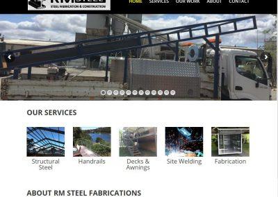 RM Steel - Penrith Website Development