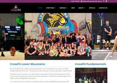 CrossFit Lower Mountains - Penrith Website Design