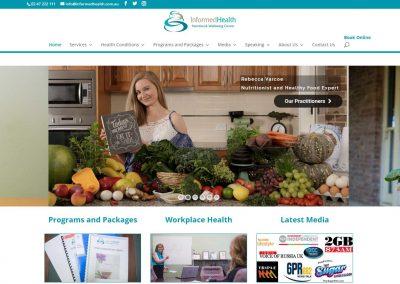 Penrith Nutritionist Website Design