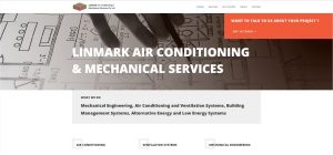 Linmark Air Conditioning Website Development