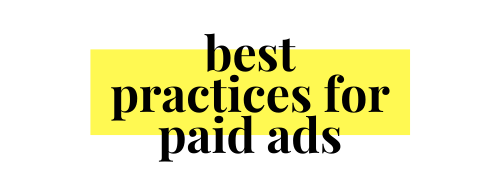 best practices for paid ads