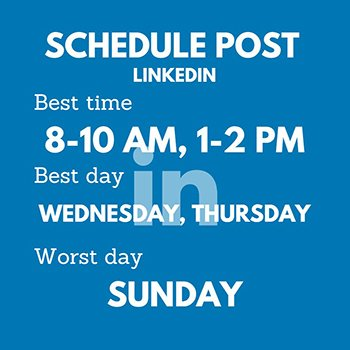 Schedule Post - LinkedIn